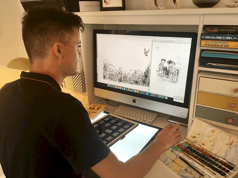 James Brown Illustrator at home | fivequills.co.uk @5Quills_kids