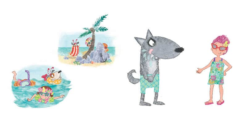 Scenes from Fairytale Beach in Sky Private Eye and the Case of the Missing Grandma
